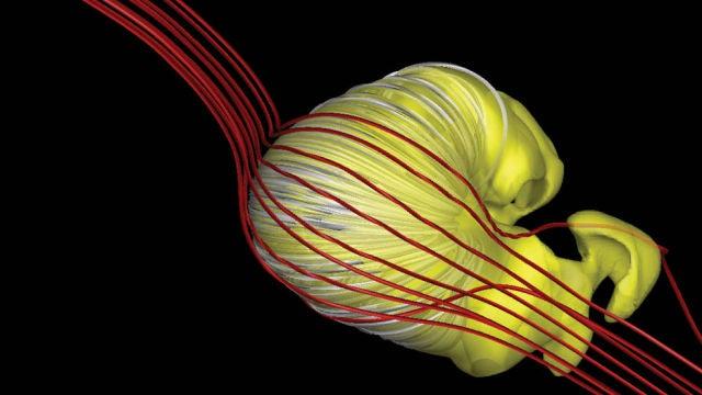 Modelo en 3D de la heliosfera