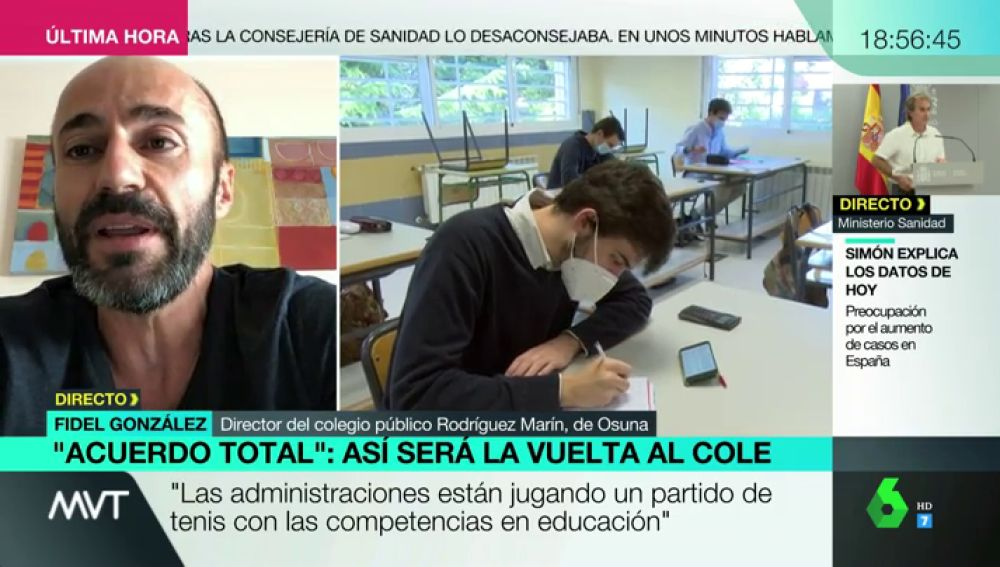 Fidel González, director de un colegio