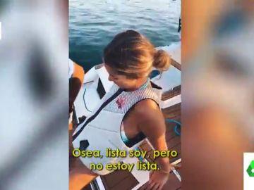 """Sofía Ellar y Álvaro Soler, amor en el mar con piques incluidos: """"¡Qué flipada!"""""""