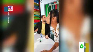 """El beso de Lorena Castell y Dani Mateo fuera de cámaras en Zapeando: estos son los """"entresijos"""" del programa"""