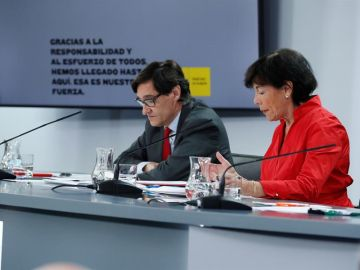 Salvador Illa e Isabel Celaá