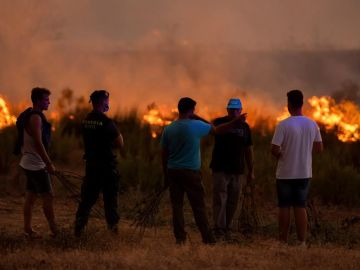 Imagen del incendio en Huelva