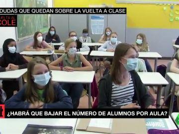 Imagen de alumnos en una aula