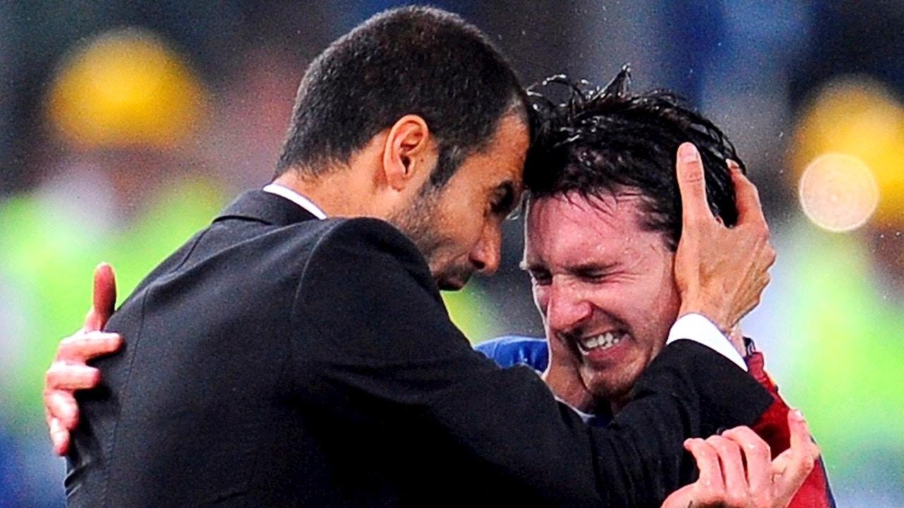 Guardiola, con Messi