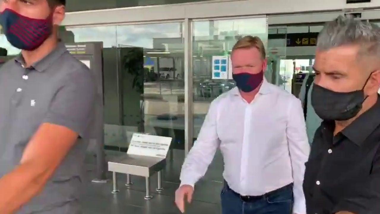 Koeman llega a Barcelona