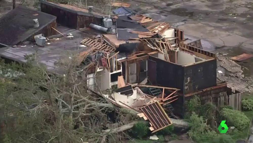 Imagen de los destrozos que ha provocado el huracán Laura