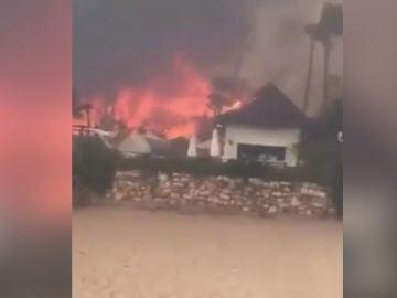 Imagen del incendio en Estepona