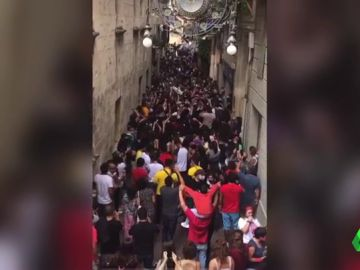 Imagen de aglomeraciones en la fiesta mayor de Vilafranca del Penedès