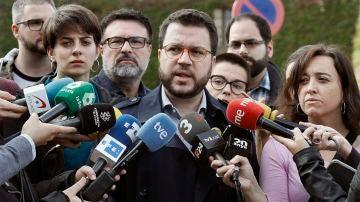 El coordinador nacional de ERC y vicepresidente del Govern, Pere Aragonés