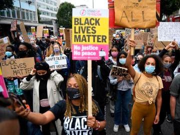 Imagen de una manifestación del movimiento 'Blanck Lives Matter' en EEUU