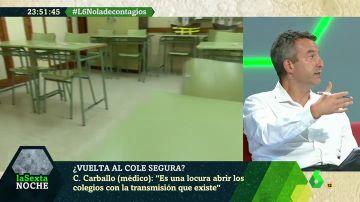 """El doctor Carballo: """"Con esta incidencia es una locura abrir los colegios"""""""