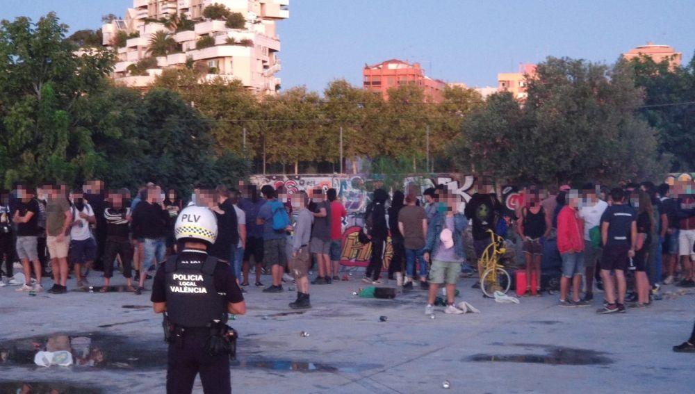 Fiesta ilegal en Valencia