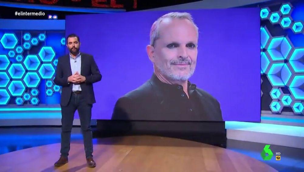 """El 'dardo' de Dani Mateo a Miguel Bosé: """"¡Don diablo se ha metido en su cuerpo para convencerle de que los gobiernos van a por nosotros!"""""""