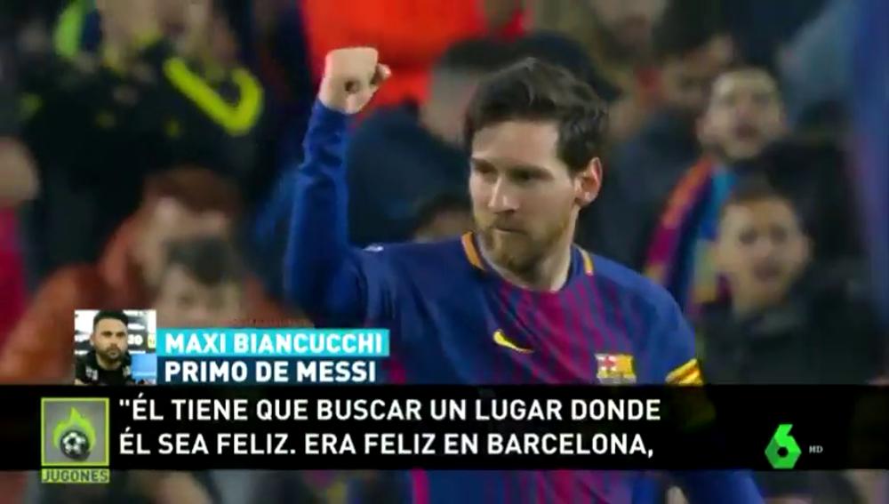 """El primo de Messi, tajante: """"Si se va del Barça es porque no es feliz"""""""