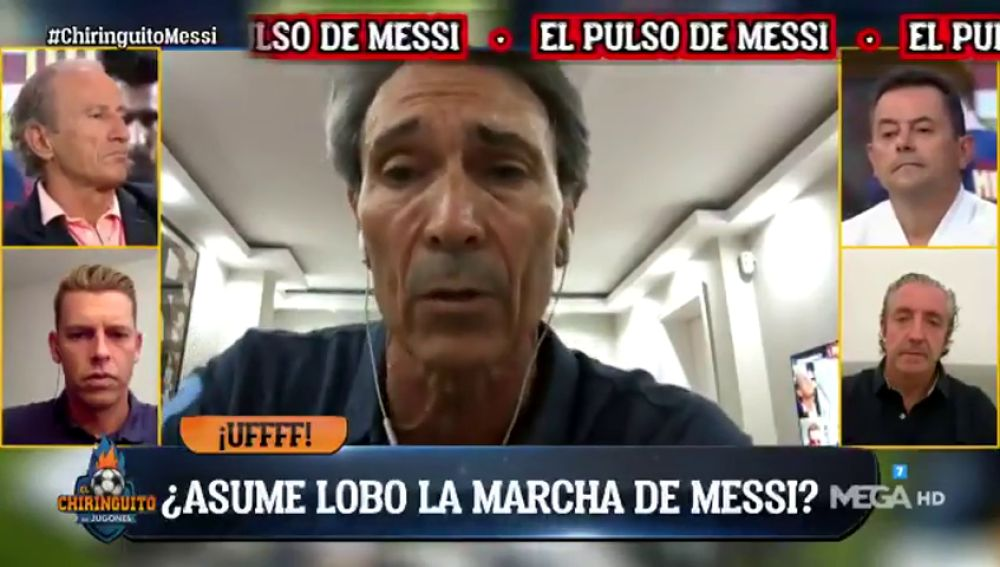 """'Lobo' Carrasco explota en 'El Chiringuito': """"Messi está harto, fuera de sí, quiere salir"""""""