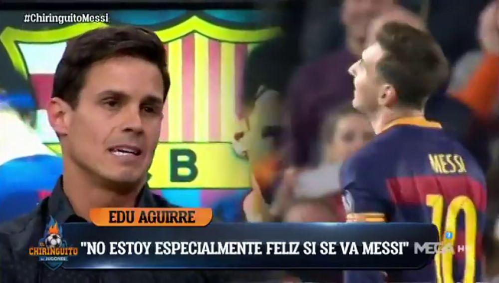 """El contundente discurso de Edu Aguirre sobre Messi: """"Es la mayor traición de la historia del fútbol"""""""