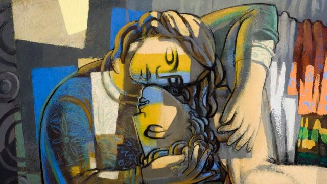 Mural Jorge Gay, los Amantes de Teruel