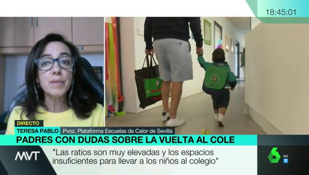 Teresa Pablo, portavoz de Escuelas de Calor de Sevilla