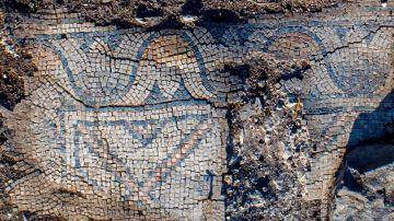 Detalle de uno de los mosaicos descubiertos
