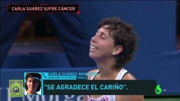 Carla Suárez habla con 'Jugones' tras recibir la dedicatoria más especial de Garbiñe Muguruza