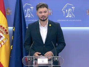 Gabriel Rufián anuncia una nueva reunión para la mesa de diálogo sobre Cataluña mediados de septiembre