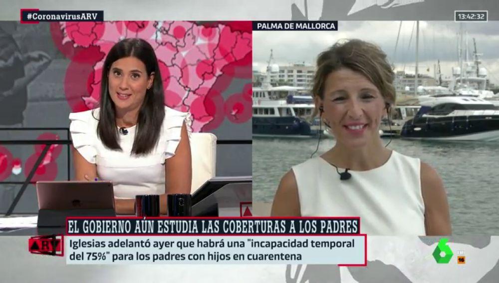 Yolanda Díaz no aclara si los padres tendrán derecho a baja si sus hijos enferman de coronavirus