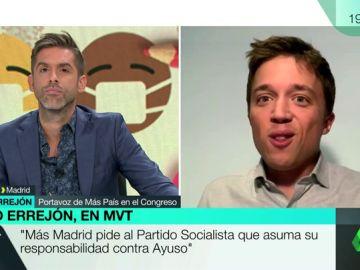 """Errejón pide a Sánchez que tome """"cartas en el asunto"""" ante el """"desastre"""" de Ayuso: """"Está siendo un caos"""""""