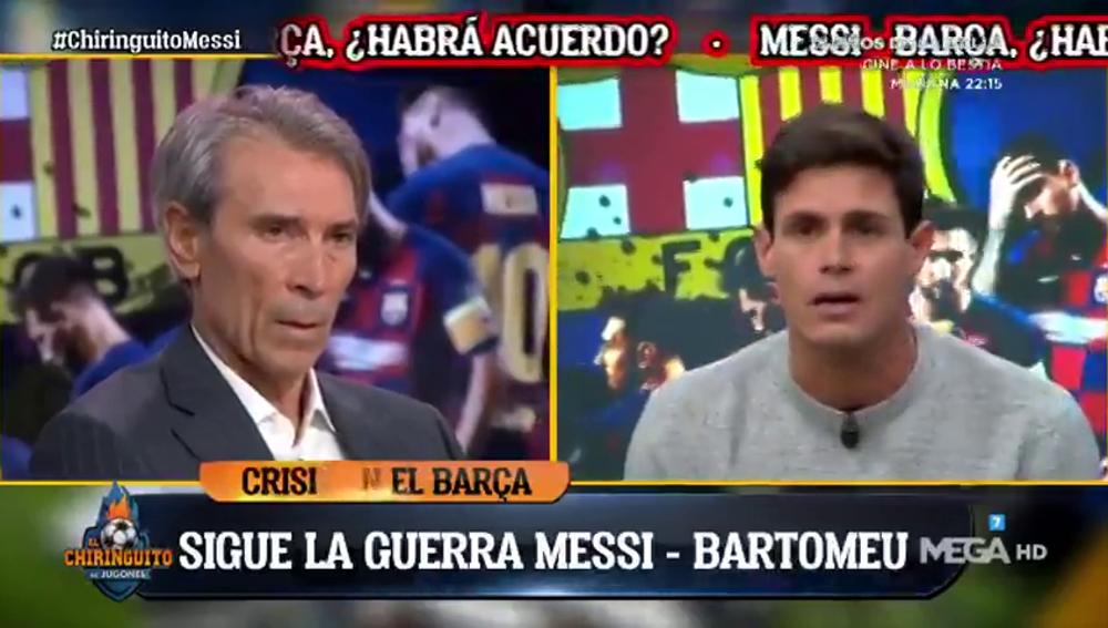 """Edu Aguirre no ve """"salida"""" para Messi: """"Bartomeu tiene la sartén por el mango"""""""