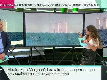 Efecto 'Fata Morgana': así son los extraños espejismos que se visualizan en las playas de Huelva