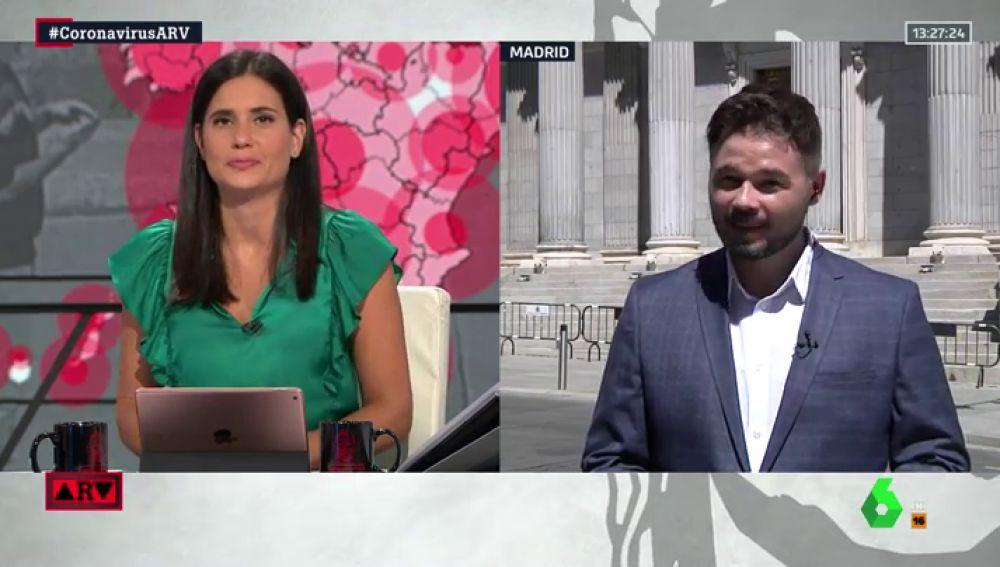 """Gabriel Rufián: """"No nos excluiremos de la negociación de los presupuestos, en todo caso nos excluirán"""""""
