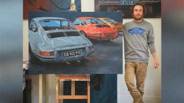 Manu Campa se ha especializado en pintar Porsches