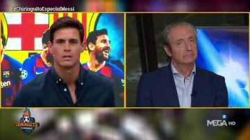 """Edu Aguire, a la bancada del Barça en 'El Chiringuito': """"Los Messi os han logrado engañar"""""""