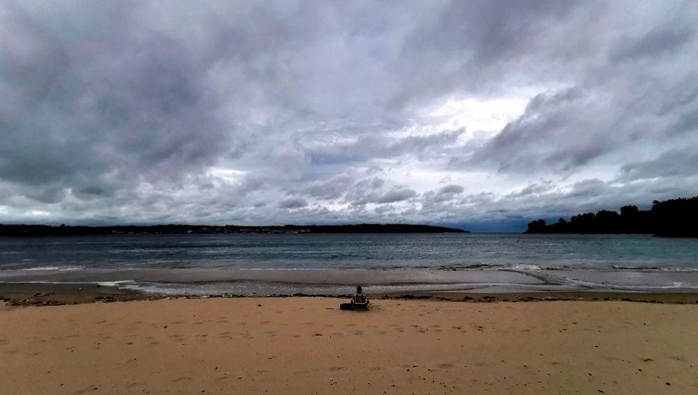 Imagen de la playa Grande de Miño, en A Coruña