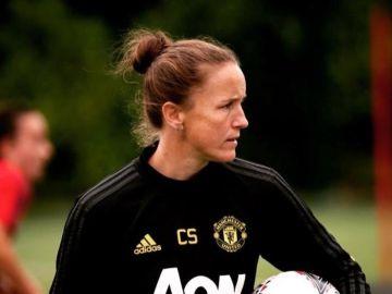 Casey Stoney, entrenadora del Manchester United