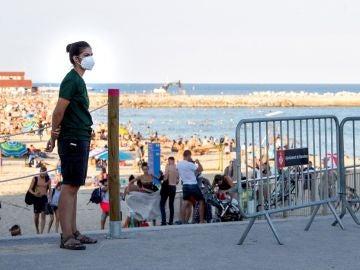 Imagen de la playa Nova Icària, en Barcelona