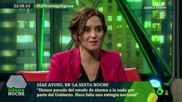 Isabel Díaz Ayuso en laSexta Noche