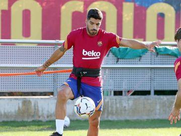 Luis Suárez, con el Barça