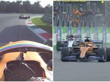 La lucha entre Sainz y Gasly en Monza