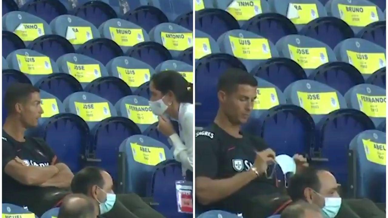 Cristiano Ronaldo, advertido por no llevar mascarilla