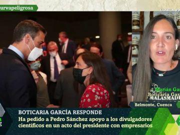 """Boticaria García desvela sus dos peticiones a Pedro Sánchez: """"Fue muy receptivo"""""""