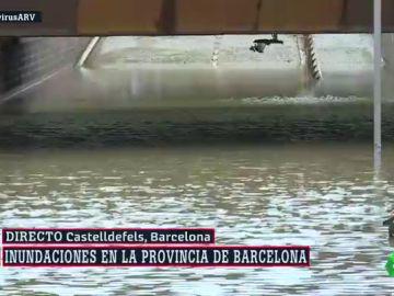 Inundaciones, caída de árboles y cortes en las líneas de tren: las imágenes de la DANA en Cataluña