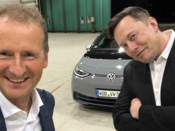 Herbert Diess y Elon Musk