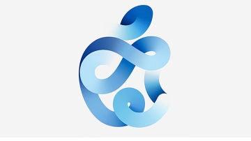 El logotipo de la manzana creado para la ocasión