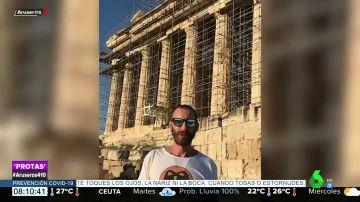 El chiste Dani Rovira sobre el Partenón en su vuelta al trabajo en Grecia