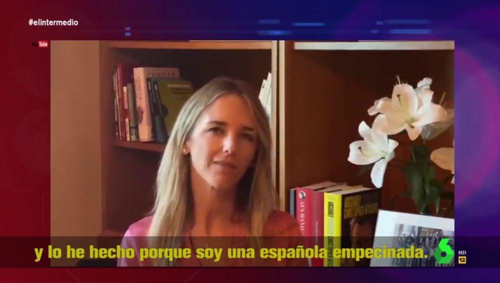 """""""Soy una española empecinada"""": así arranca Cayetana Álvarez de Toledo su vídeo de Youtube contra el PP"""