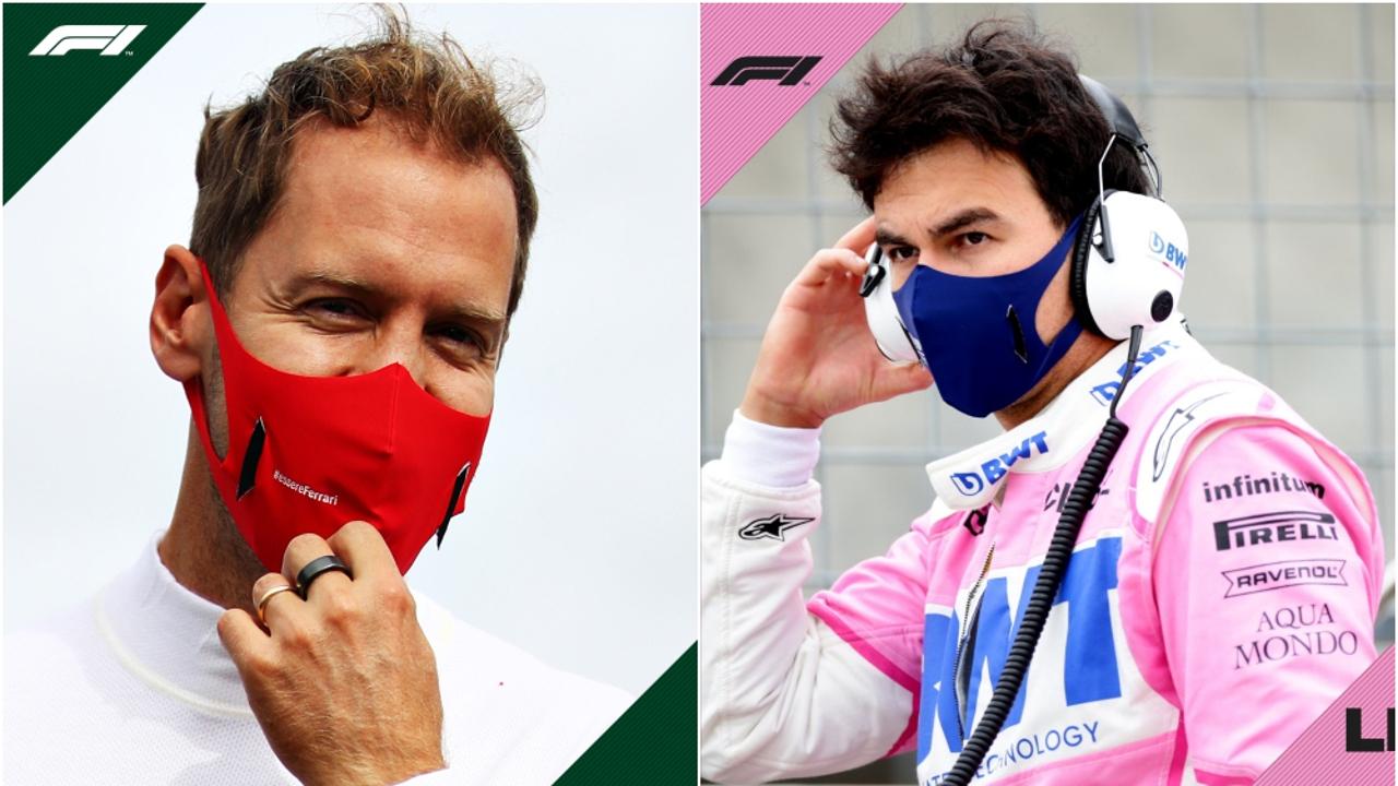 Sebastian Vettel y Sergio Pérez