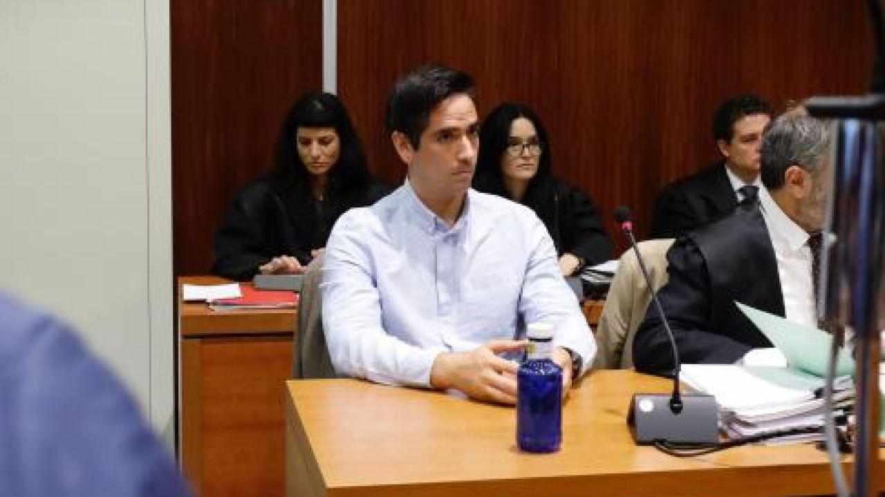 Rodrigo Lanza en una sesión del juicio