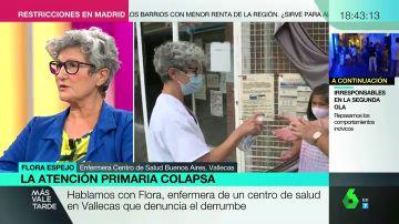 Flora Espejo, enfermera en Vallecas.