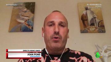 Joan Pons, enfermero español que trabaja en Reino Unido.