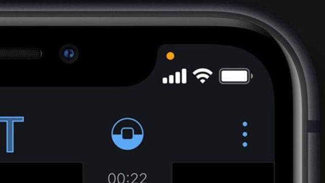 Nuevos indicadores de alerta de privacidad en iOS 14.